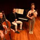 Dunedin Concerto Competition finalists (from left) cellist Boudewijn Keenan (17), pianist...