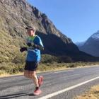Ultra-marathon runner Glenn Sutton on his  580km run from Milford Sound to Mt Cook, as a...