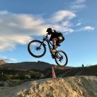 Ben Brokenshire riding on the mountain biking skills park in the Heathcote Valley. Photo: Grant...