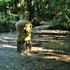 torso in botanical gardens
