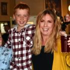 Celebrating Mother's Day yesterday with a pint of beer brewed by women is Albar co-owner Anita...