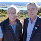 Milton Rotary OYAT Tramping Club president Rob Wilton (right) and Milton Rotary president Stephen...