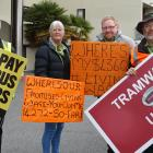 Rallying outside the Novotel Hotel in Queenstown to convince Otago regional councillors to...