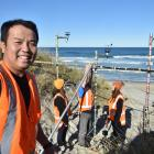 Geography PhD student Duc Nguyen (35) is studying the benefits of sand notches which have been...
