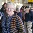 Lyn Drummond is one of many people lined up outside before the doors opened for this year's...
