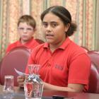 Oamaru Intermediate School pupil Leilani De-La-ford supports the proposed stadium at the long...