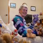 Sandra van Hafften has collected 575 bears, most of them from the Salvation Army's North End...