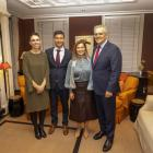 New Zealand Prime Minister Jacinda Ardern with partner Clarke Gayford, and Australian Prime...