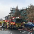 Crews from Dunedin Central, Willowbank, and Roslyn were called to deal with the fire at Otago...