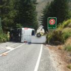 The Glenorchy road crash in January 2020, in which a young girl lost both her hands. Photo: ODT
