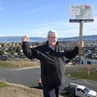 Ray Kean, of Property Brokers, stands on a subdivision in Mosgiel that will be auctioned this...