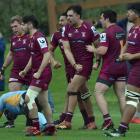 Alhambra-Union celebrates during a premier match against University at the University of Otago...