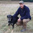 Greenvale Dog Trial Club member Brendon Stewart and his huntaway Dusty get ready to compete on...
