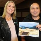 Ardlussa Community Board member Hilary Kelso and Riversdale mountainbiker Daniel Butler are very...