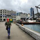 Scootering around Wellington waterfront. Photos: Lisa Scott