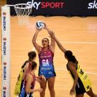Southern Steel goal attack Tiana Metuarau lines up a shot against the Central Pulse earlier this...