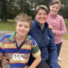 Otago regional councillor Carmen Hope with her children, Henry (10) and Alice (11). Carmen spends...
