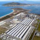 The Tiwai Point aluminium smelter. PHOTO: STEPHEN JAQUIERY