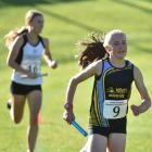 Zara Geddes makes a strong start for HCU in the senior women's race at the Lovelock Relays as...