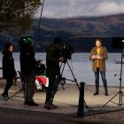 The Australian Today Show filming in Akaroa as part of a campaign to promote New Zealand to...