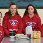 Members of Ashburton College's Phoenix Chorus (from left to right) Charlotte McKenzie (15), Emma...