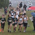 Runners (from left) Kotomiyo Cowell, Charlotte Summers, Lola Saunders, Celia Lie and Donna Tumaru...