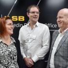 Dunedin business leaders (from left) Sarah Ramsay, Nigel Bamford and Scott Mason spoke about...