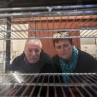 Cafe Rossi owners Mark and Donna Coleman in their empty cafe after closing its doors for the...