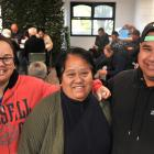 The Vahua family, siblings Grace and Io and mother Tuakana Vahua, are all smiles as they receive...