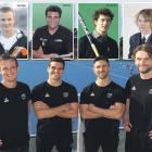 Hugo Inglis, Nick Ross, Kane Russell and Blair Tarrant in Auckland yesterday after being named in...