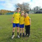 Josh, Bodhi and Lily Campbell were each awarded player of the day after their sports games. Photo...