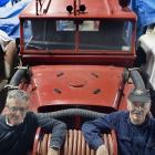 Aurora Energy Ltd chief executive Richard Fletcher (left) and Dunedin Fire Brigade Restoration...