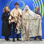 Gearing up for this weekend's iD International Emerging Designer Awards are (from left) designer...