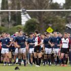 St Andrew's College captain Will Stodart checks how much time is remaining after St Thomas of...