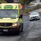 Police and ambulance at an incident at Leckhampton Ct today. Photo: Peter McIntosh