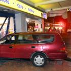 The vehicle crashed into the entrance of the Octagon Night 'n Day early this morning. Photo:...