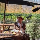 Tom Sainsbury, pictured at River-T Winery, in the Waitaki Valley, stars in one episode of Tourism...