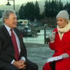 Winston Peters was interviewed on Channel Nine's Today show, in Queenstown today. Photo: Channel...