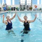 Braving the cold water at Dunedin's Physio Pool during a ''polar plunge'' yesterday is pool...