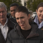 Agriculture Minister Damien O'Connor (left) with Prime Minister Jacinda Ardern (centre) are...