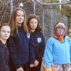 Wakatipu Hockey Club members (from left) Briar Dennison (12), Madeline McNay (12), Chelsea Wood ...