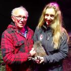 Friend of the Kiwi Birdlife Park, Willie Solomon, and senior wildlife keeper Chrissy Becker...