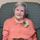 Resthaven rest-home resident Nora Larking celebrates her 100th birthday in Gore yesterday with...