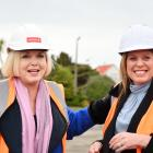 Leader of the Opposition Judith Collins meets Southland Charity Hospital board member Melissa...