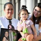 The family of murdered Invercargill woman Azalia Wilson (from left) Trinette Wilton (mother) and...