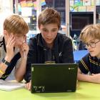 Competing in the years 7-8 ODT Extra! online spelling quiz are Tahuna Intermediate School pupils ...