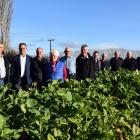 Standing in a paddock of kale (not the winning crop) are (from left) Otago Community Hospice...