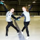 Sisters Hannah Sime (18, left) and Rebekah Sime (14) had a busy weekend on the ice at the Dunedin...