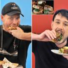 The two Dunedin finalists of the Great New Zealand Toastie Takeover take a bite from their...