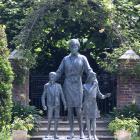 The statue of Diana, Princess of Wales, at Kensington Palace, unveiled earlier this month. PHOTO:...